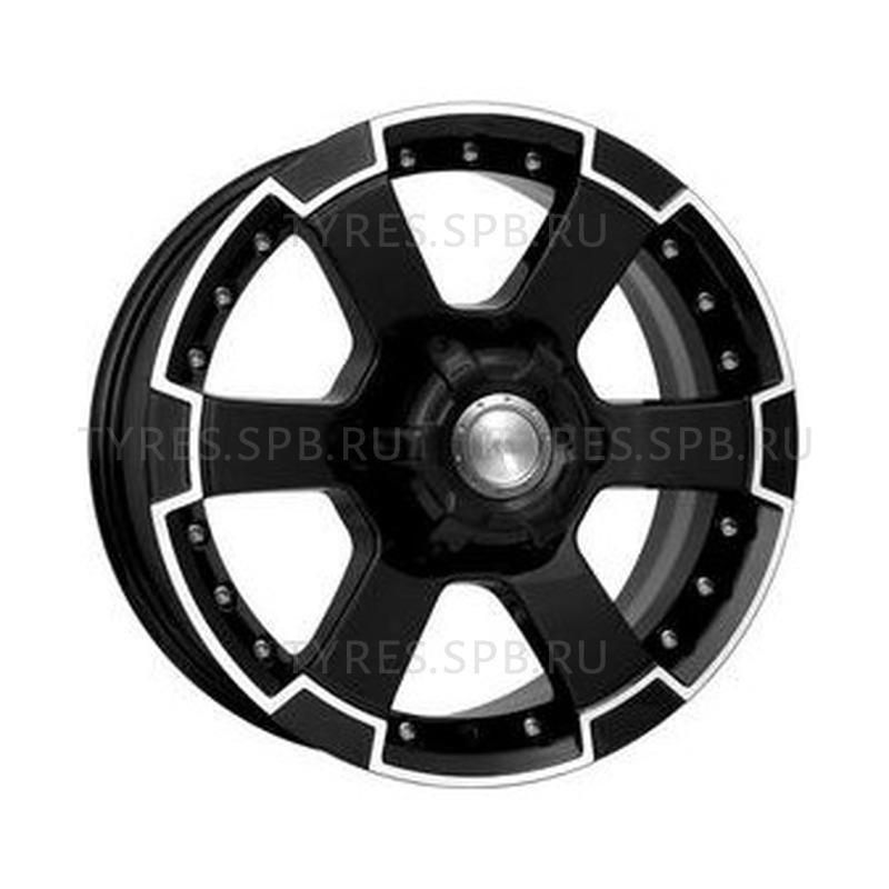 КиК M56 алмаз черный 7x16 6x139.7 110.1 ET20
