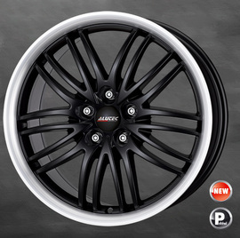 8x17 5x114.3 70.1 ET40 Alutec BlackSun Racing Black Lip Polished