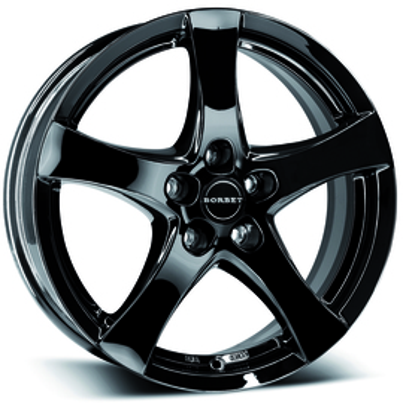 Borbet F black glossy 7x17 5x108 72.5 ET50