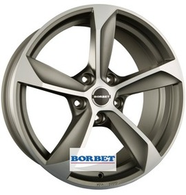 Borbet S graphite polished matt 8x18 5x108 72.5 ET45