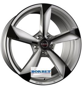 Borbet S silver black glossy 8.5x19 5x112 72.5 ET35