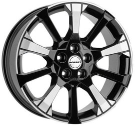 Borbet X10 black polished 8x18 5x112 72.5 ET35