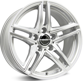 Borbet XR brilliant silver 7.5x16 5x112 66.6 ET45