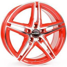 Borbet XRT racetrack red polished 8x17 5x112 72.5 ET45