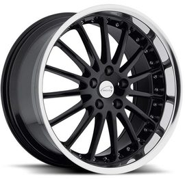 Coventry Whitley gloss black mirror cut lip 8.5x19 5x108 63.4 ET42