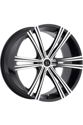 8.5x20 5x114.3 74.1 ET40 Harp Y-28 GLOSSY-BLACK__MACHINED-FACE