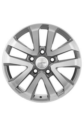 8.5x20 5x150 110.1 ET58 Khomen Wheels KHW1203 (LC200) F-Silver Вид 1