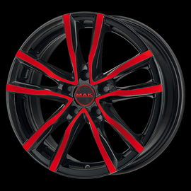 MAK Milano Black and Red 6.5x16 5x108 72 ET45