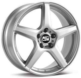 7x16 5x100 63.3 ET38 MSW 14 Full Silver