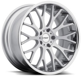 8.5x18 5x112 72 ET43 TSW Amaroo Silver Brushed Face Chrome Lip