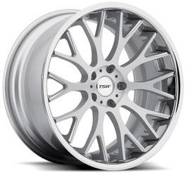 TSW Amaroo Silver Mirror Cut Face 8.5x18 5x112 72 ET43